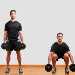 Dumbbell  squats for legs