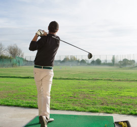 Golf driving range.